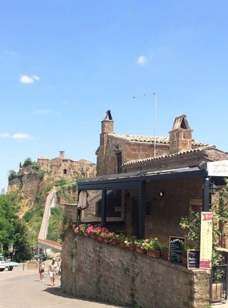 On the way to the footbridge in Civita di Bagnoregio