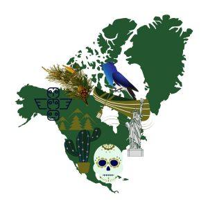 north america graphic