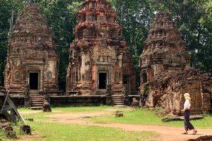 exploring preah ko temple in siem reap cambodia