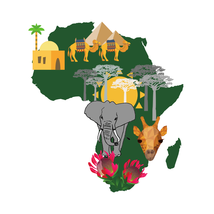 travel to africa graphic