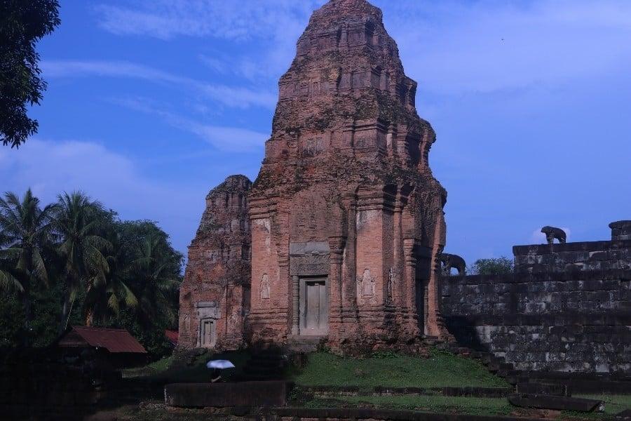 Bakong Temple Cambodia after a rain