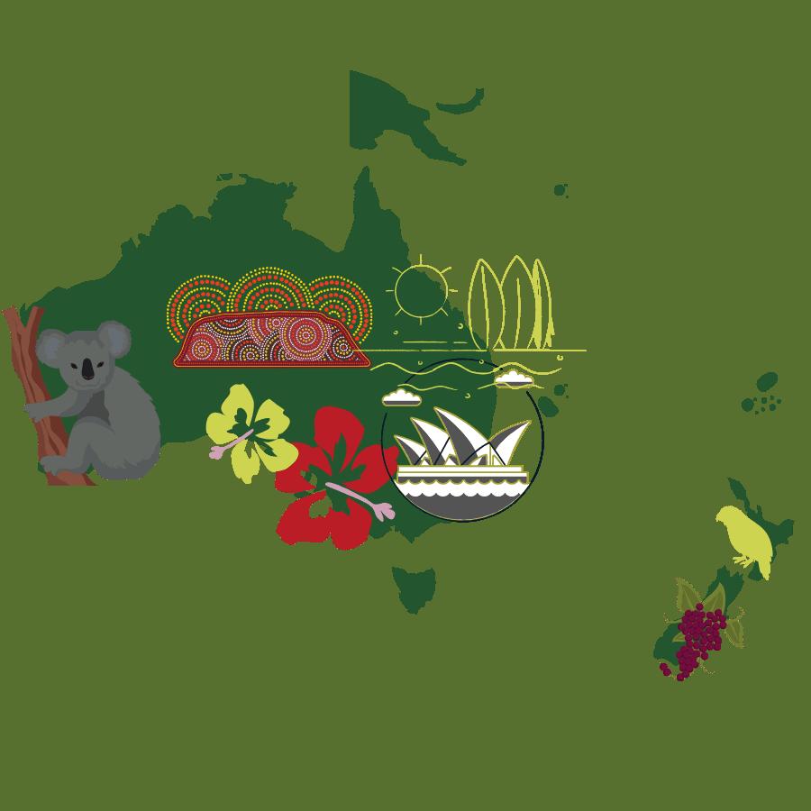 australia pacific travel graphic
