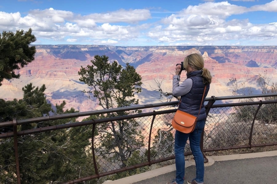 photographing grand canyon