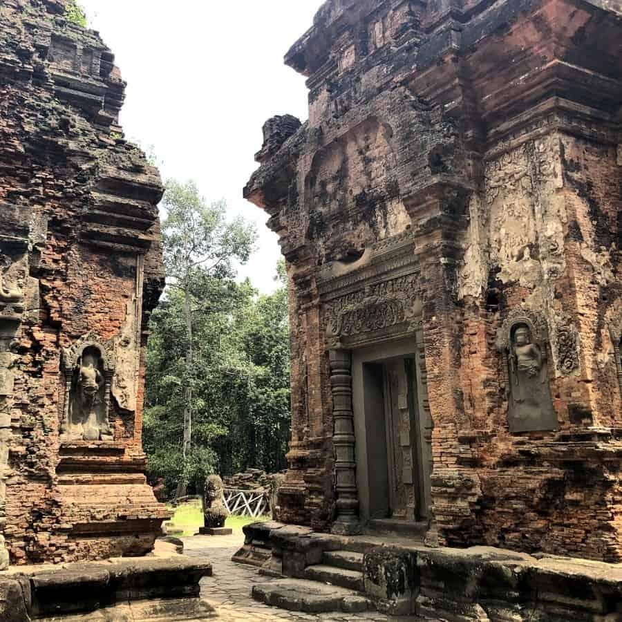 Preah Ko towers are made of brick