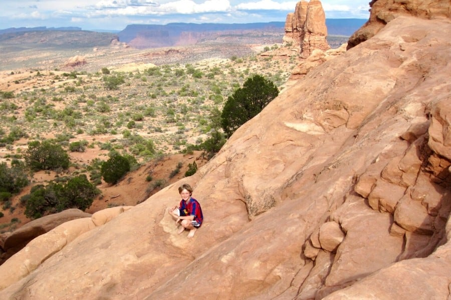 first trip to arches national park with kids