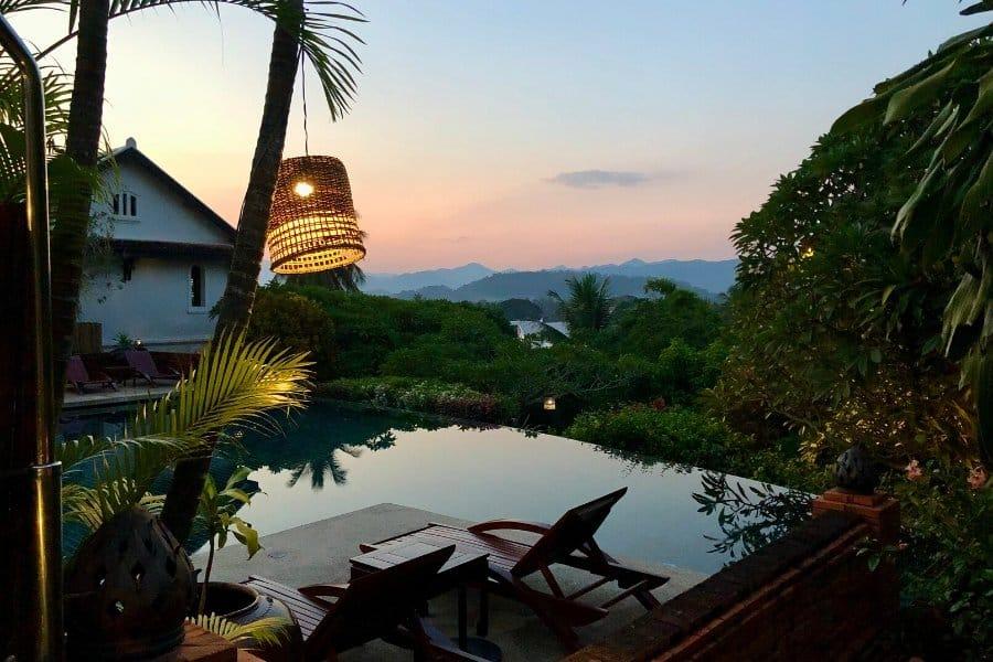 belmond hotel luang prabang sunset