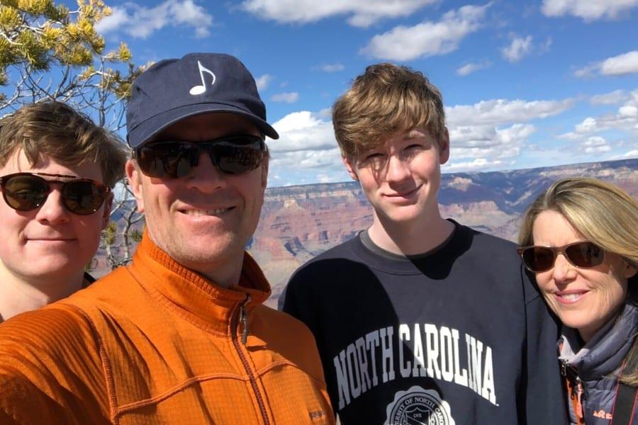 family road trip grand canyon