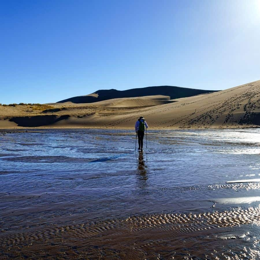 Medano Creek in spring at Great Sand Dunes National Park