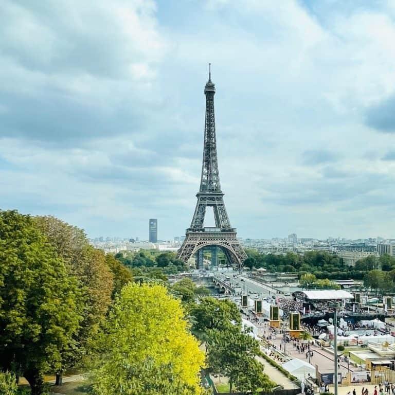 A view of the Eiffel Tower from the Cité de l'Architecture & Du Patrimoine