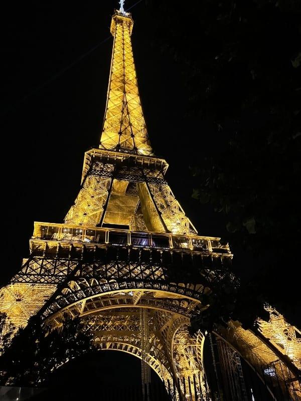 Eiffel Tower from the Champ de Mars park