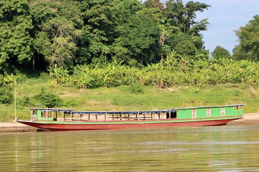 longtail boat mekong river laos