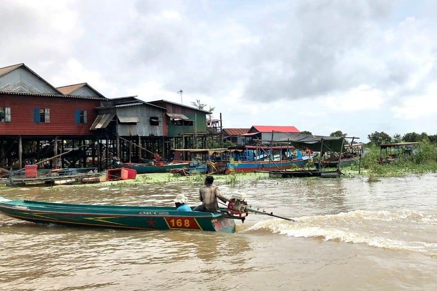 stilted houses kampong phluk