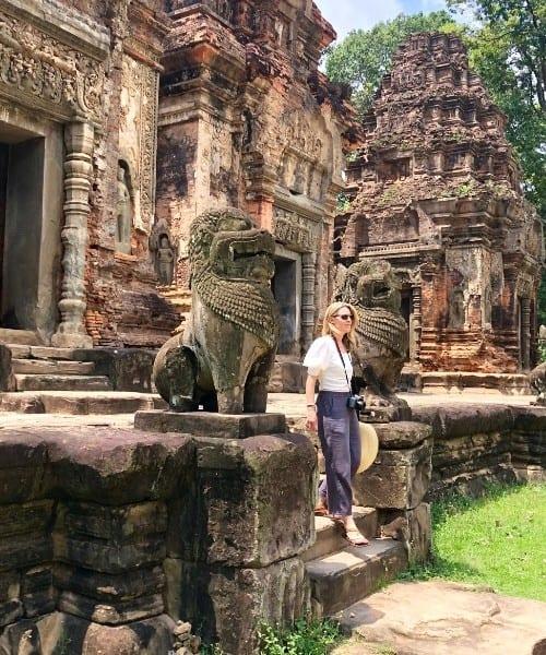 visiting preah ko temple cambodia