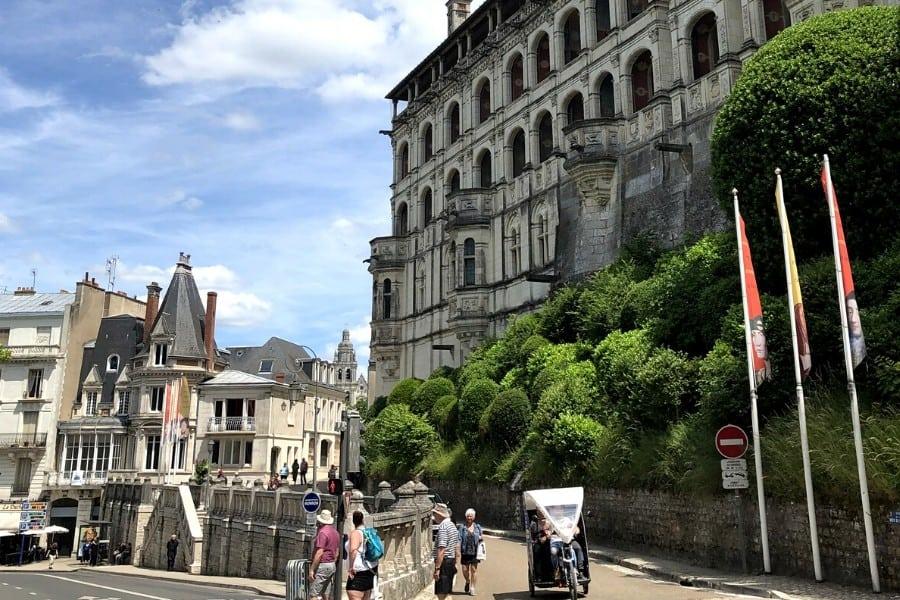 chateau du blois is unique as it in a town