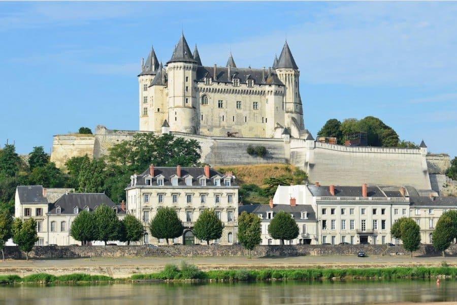 Chateau de Saumur on the Loire River, Loire Valley, France