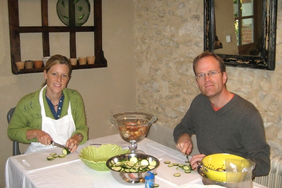 cooking class at le moulin bregeon in the loire valley