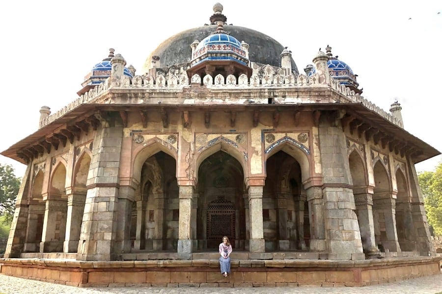 Your trip to India will likely start in Delhi: don't miss Delhi's Isa Khan temple