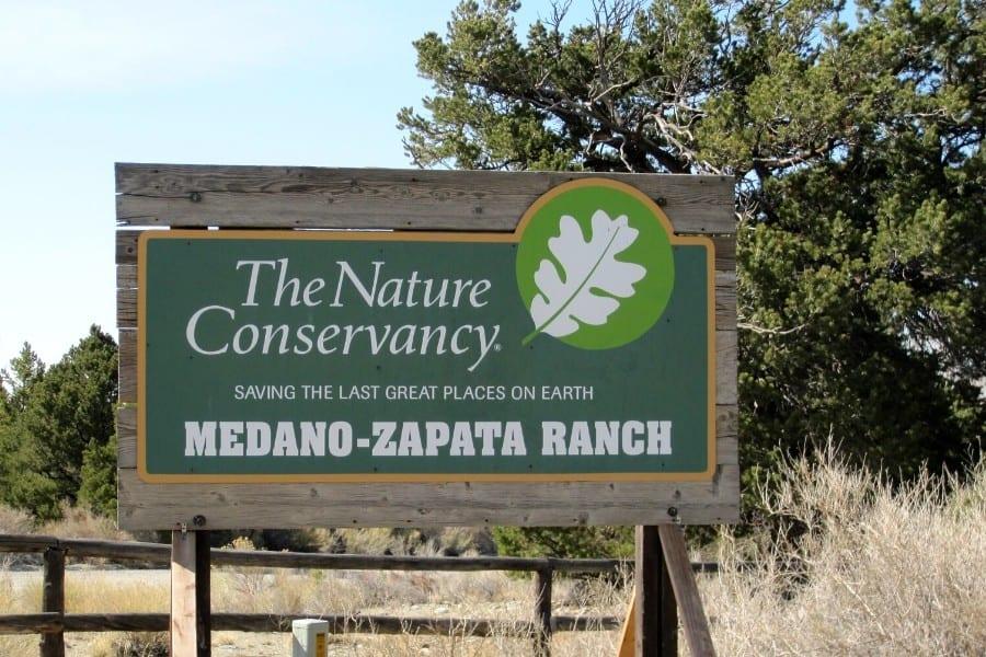 medano zapata ranch sign