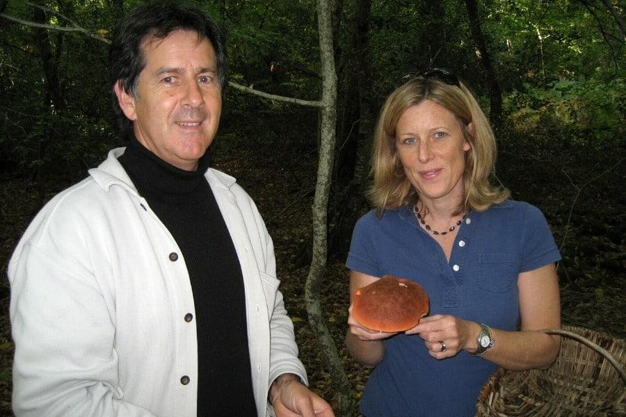 mushroom hunting in autumn, Loire Valley France