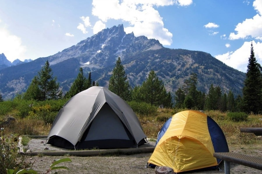 Camping in Grand Teton National Park - National Park Service photo /A. Mattson