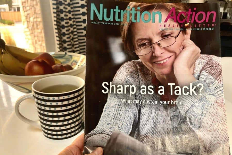Reading the Nutrition-Action health Newsletter by the Center For Science in the Public Interest
