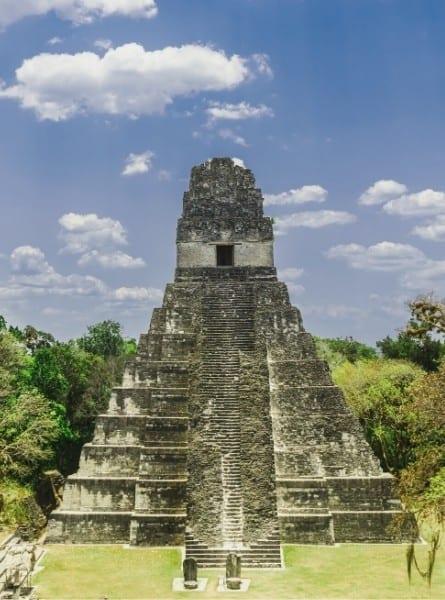 The ancient mayan city of Tikal in Guatemala