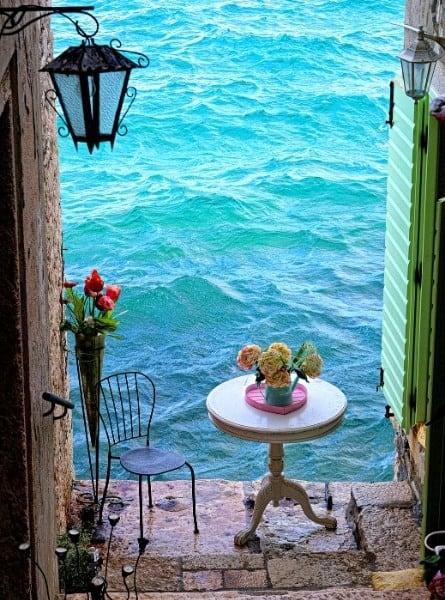 Scenic seaside town in Croatia