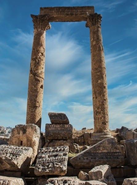 Ancient ruins in Jordan