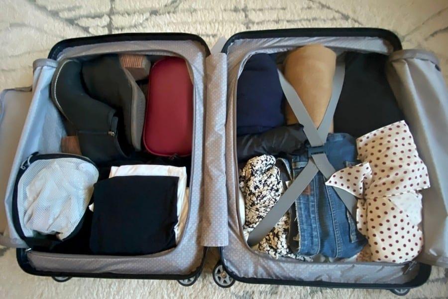 Samsonite's NeoPulse Lightweight carry-on packed for Paris