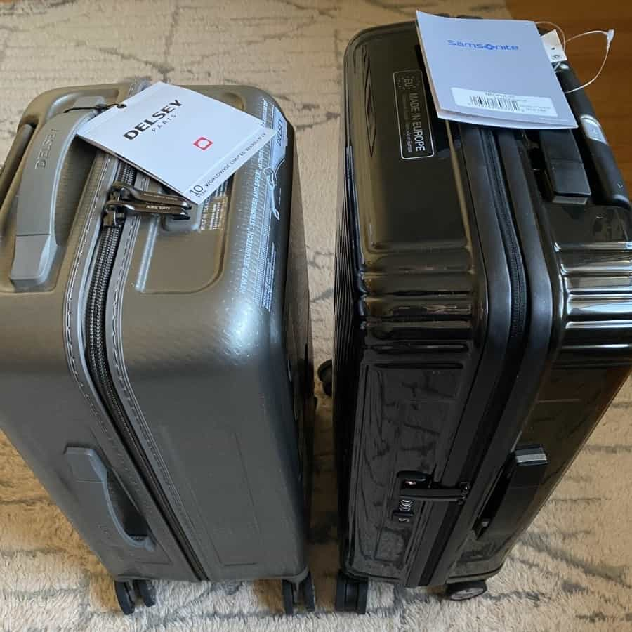 Delsey vs Samsonite Ultra Lightweight carry-on luggage