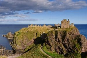 A view of Scotland's Dunnotar Castle on the coast of Aberdeenshire