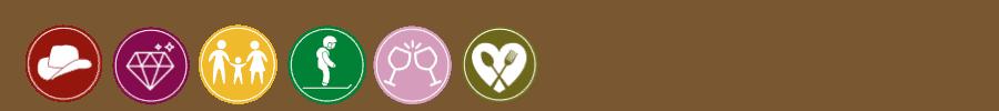 Icons of features at Breckenridge ski resort