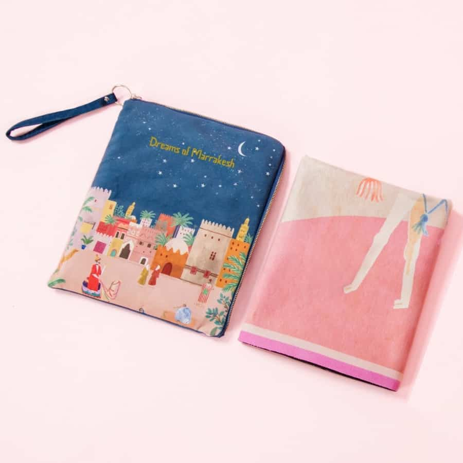 Sugarmat travel yoga mat and carrying case