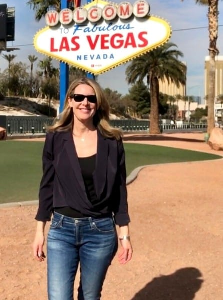 Midlife Globetrotter under the Welcome to Las Vegas sign