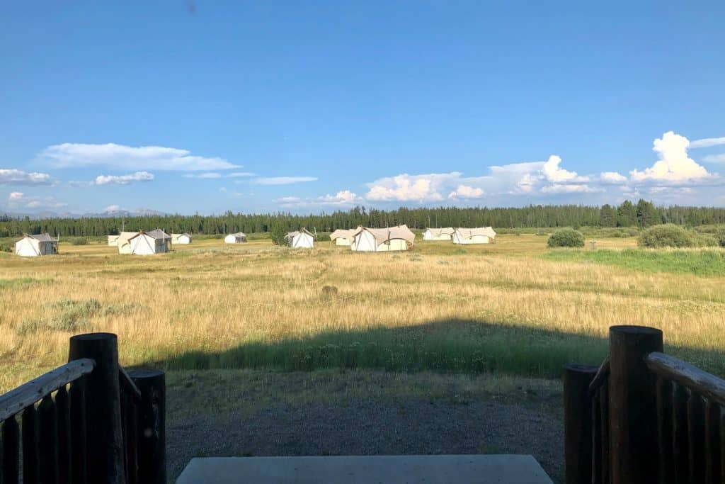 The view from the Bar N Ranch Restaurant near West Yellowstone Montana
