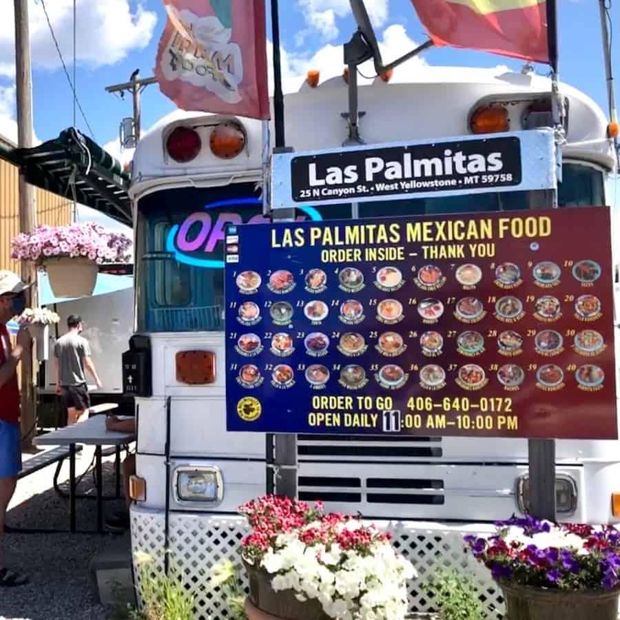 Las Palmitas, known as the Taco Bus in West Yellowstone,Montana