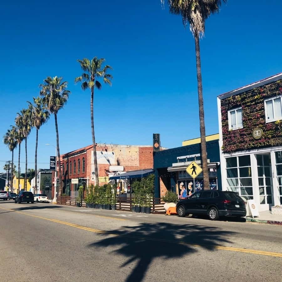 Abbot Kinney Boulevard in Venice California