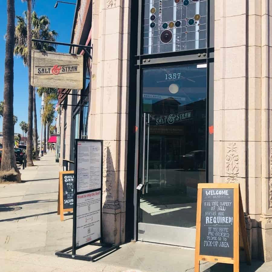 Entrance to Salt and Straw ice cream shop, Venice, California