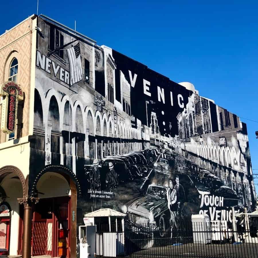 A Touch of Venice Mural in Venice California
