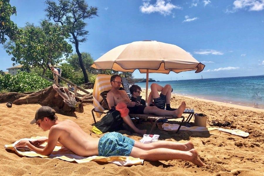 On Kaanapali beach at the Westin Nanea
