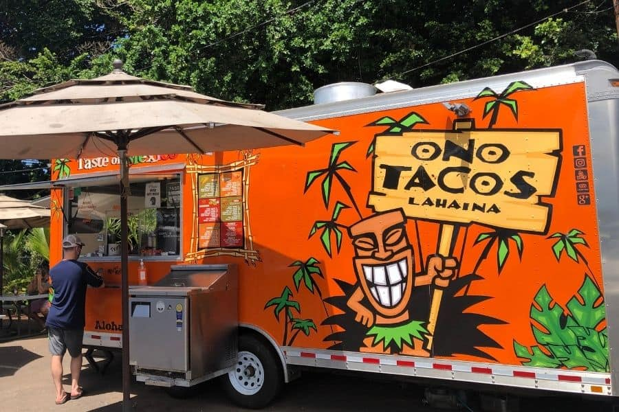 Ono Taco Truck in Lahaina Maui