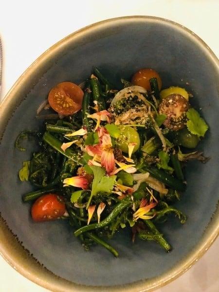 A colourful salad of fresh Maui salad greens