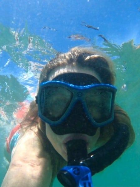 Susan Heinrich snorkels near Kaanapali Beach Maui