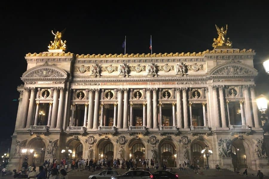 Paris Opera House at Night