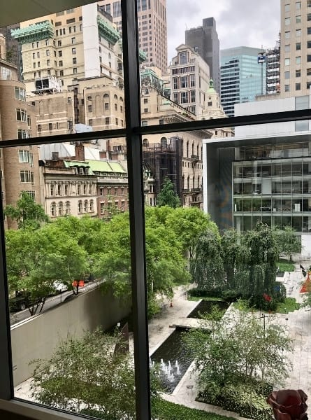 A view from the Museum Of Modern Art out to Midtown Manhattan