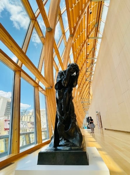 A Rodin sculpture in a soaring gallery at the Art Gallery of Ontario in Toronto