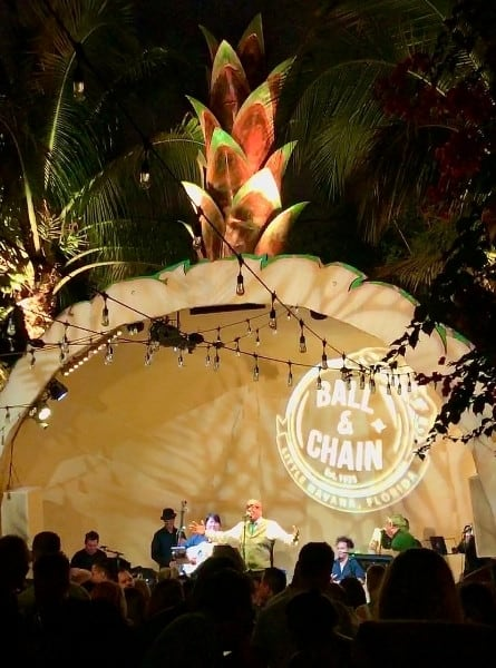 Luis Bofill performs at t he pineapple stage at the Ball and Chain club in Miami