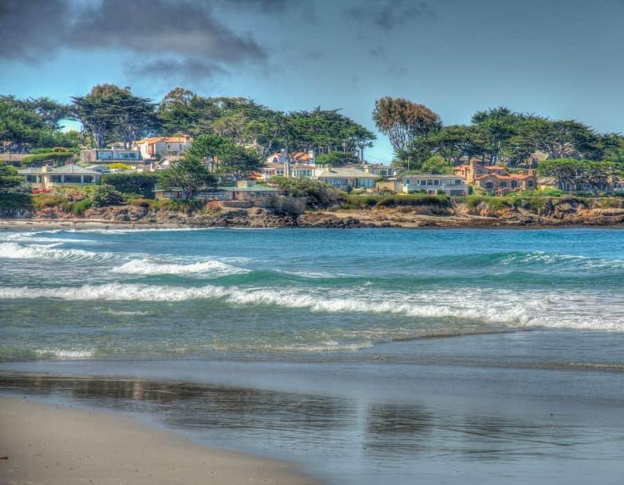 The beach and coast at Carmel California