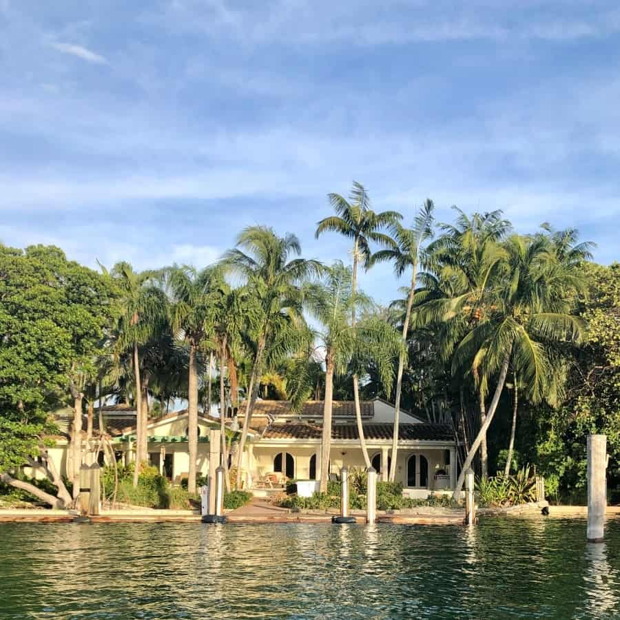 A waterfront home in Miami's Biscayne Bay