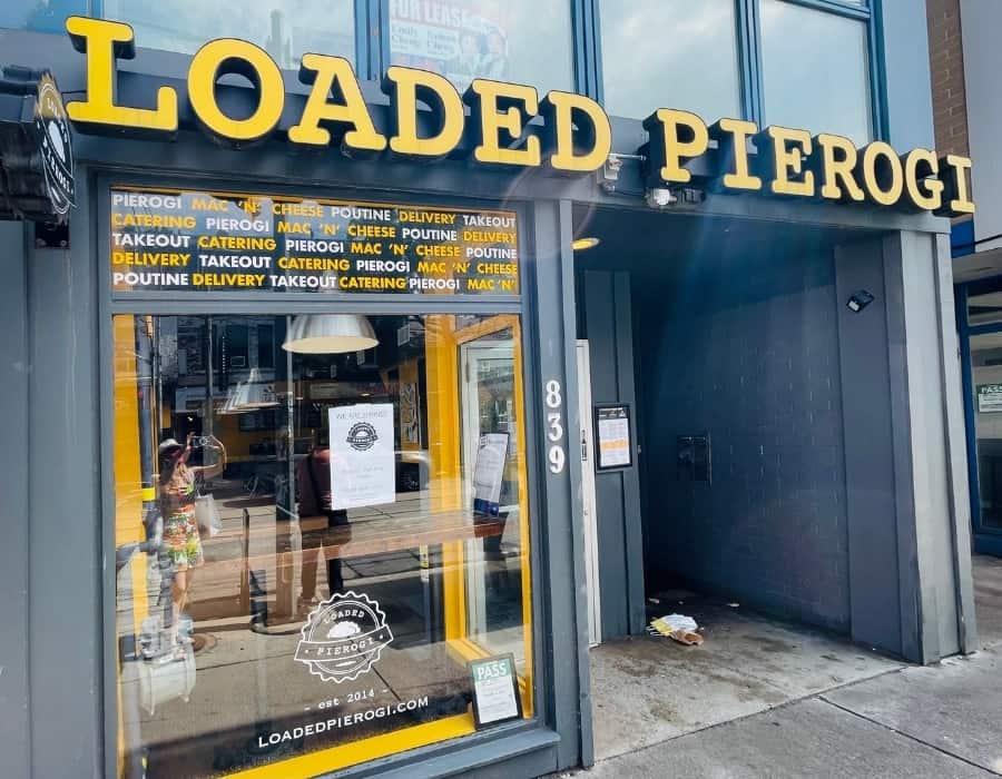 Loaded Pierogi restaurant in Toronto